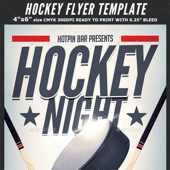Hockey Match Flyer Template