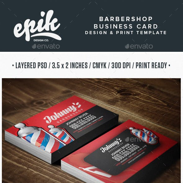 Barbershop Business Card Template