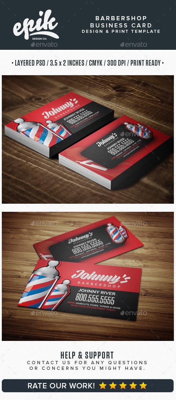 Barbershop Business Card Template - Business Cards Print Templates