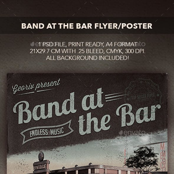 Band at the Bar Flyer/Poster