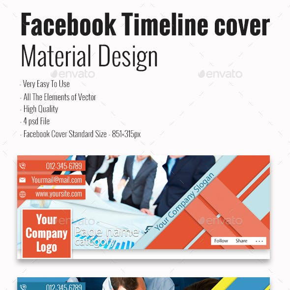 Facebook Timeline cover (Material Design)