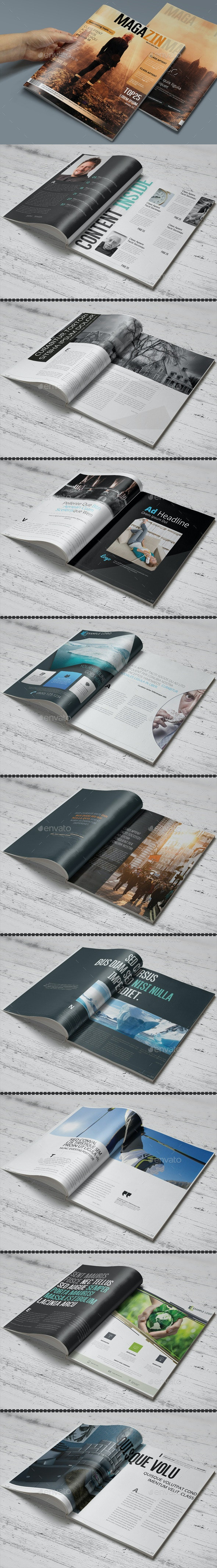 Photoshop Magazine Template - Magazines Print Templates