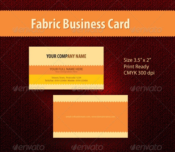 Fabric Business Card - Creative Business Cards