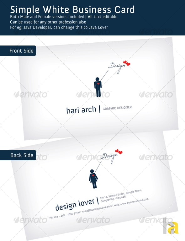 Simple White Business Card - Creative Business Cards
