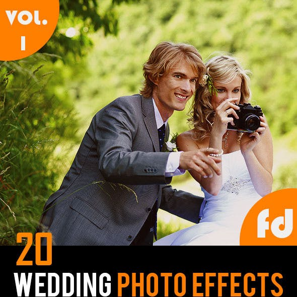 20 Wedding Photo Effects