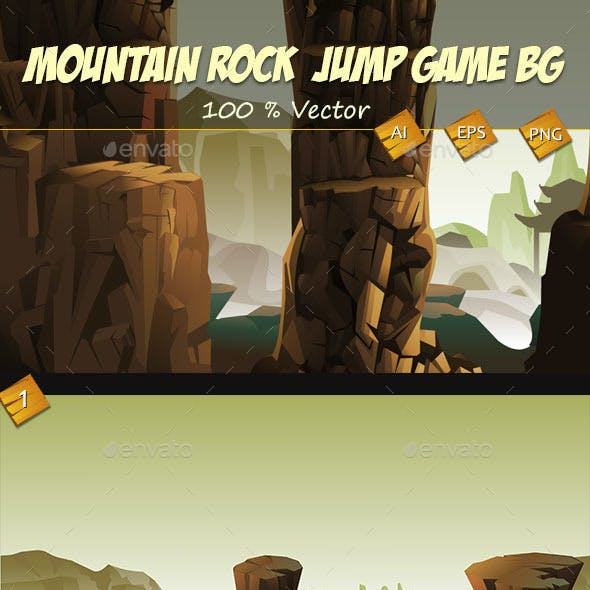 Chinese Mountain Rock  Jump Game Backgrounds