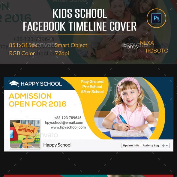 Kids School Facebook Timeline Cover