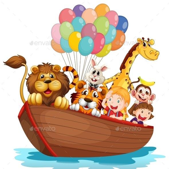 Boat Full of Animals