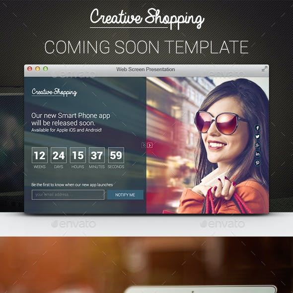 Coming Soon PSD Template