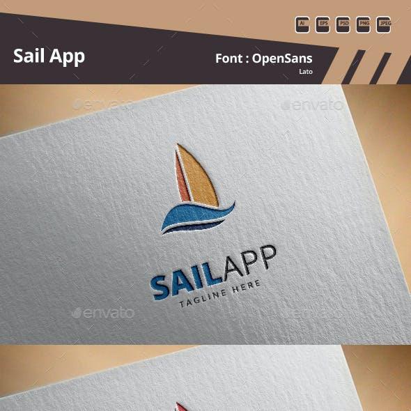 Sail App Logo Template