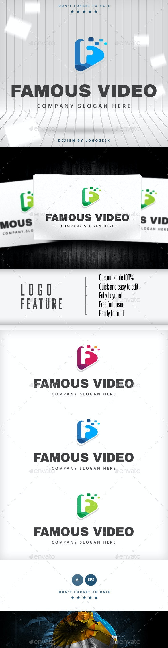 Famous Video Logo - Letters Logo Templates