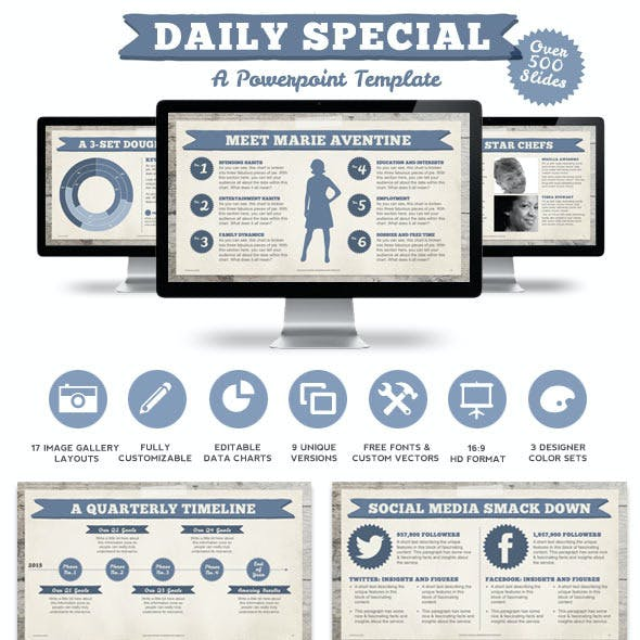 Daily Special Powerpoint Presentation Template