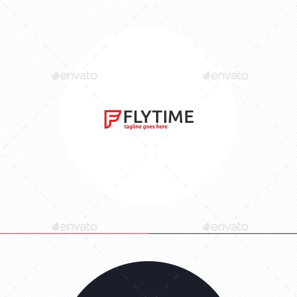 Fly Time Logo • Letter F