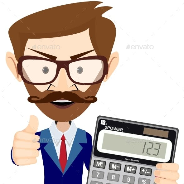 Accountant with a Calculator