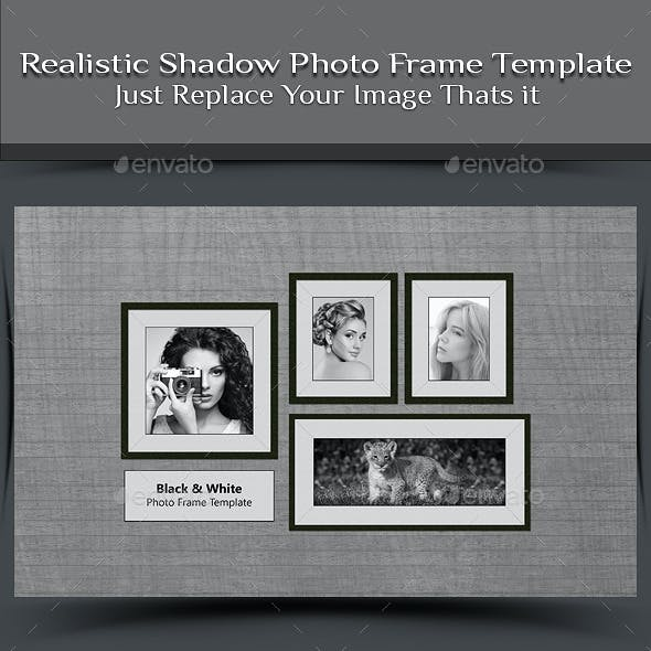 Realistic Shadow Photo Frame Template