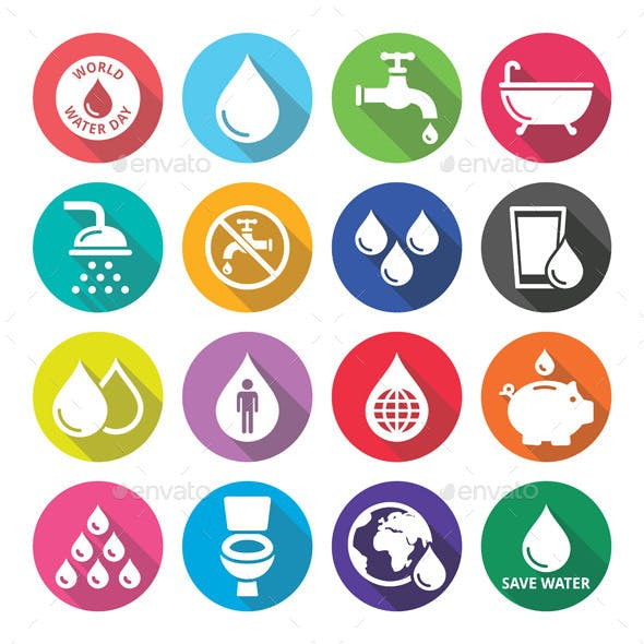 World Water Day Icons