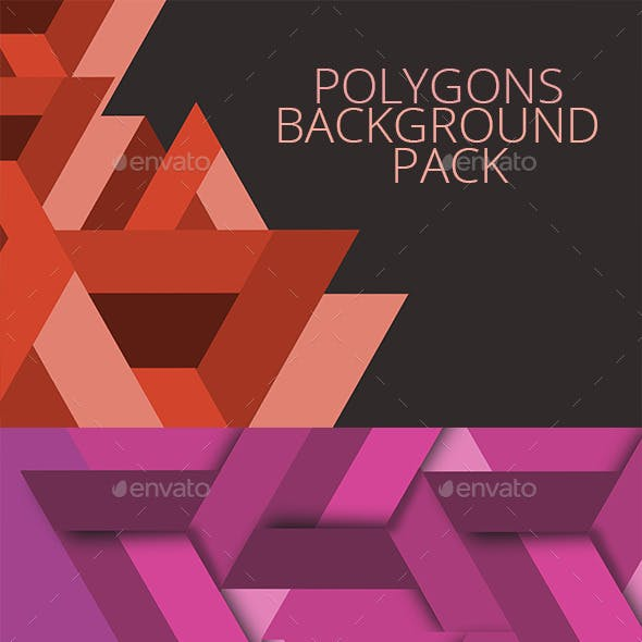 Polygon backgrounds pack
