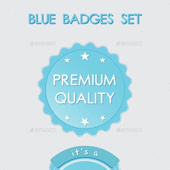 Blue Badges Set