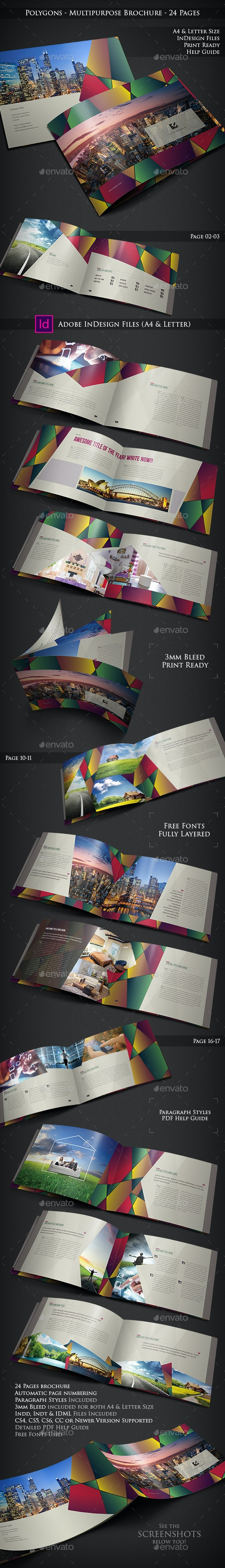 Polygons - Multipurpose Brochure - 24 Pages - Corporate Brochures