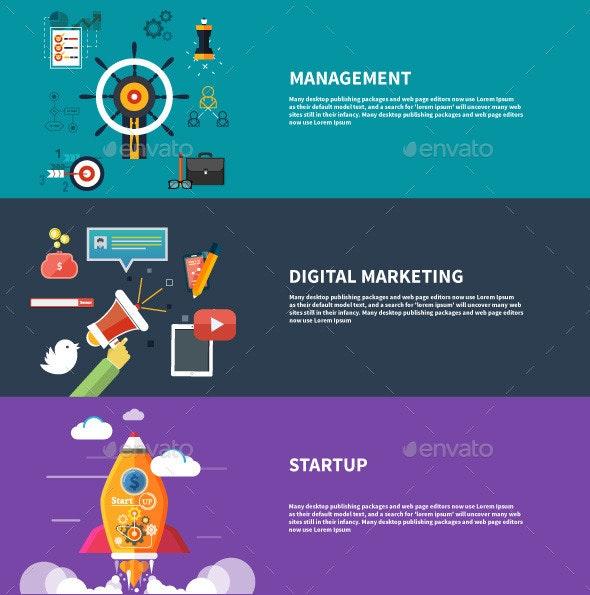 Management Digital Marketing Srartup Planning - Concepts Business