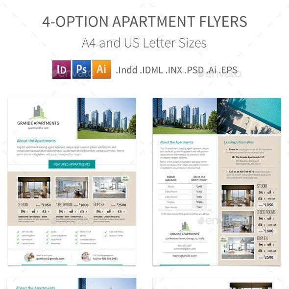 Apartment Real Estate Flyers – 4 Options