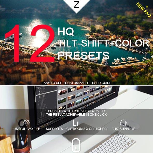 12 HQ Tilt-Shift+Color Presets