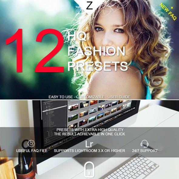 12 HQ Fashion Presets