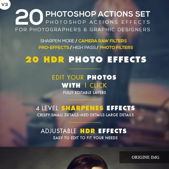 20 HDR Photo Effects V.03 - Photoshop Action