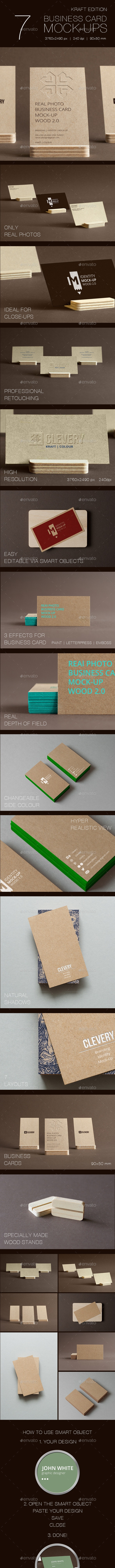 Branding / Identity / Business Card Mock-Up - Business Cards Print