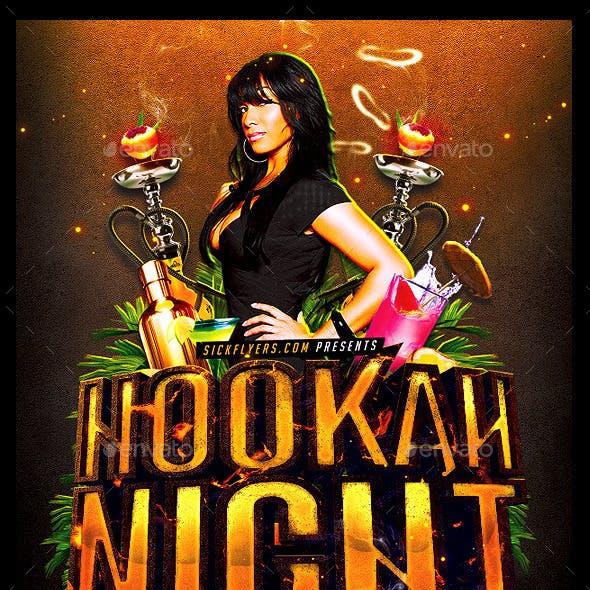 Hookah Night Flyer Template PSD
