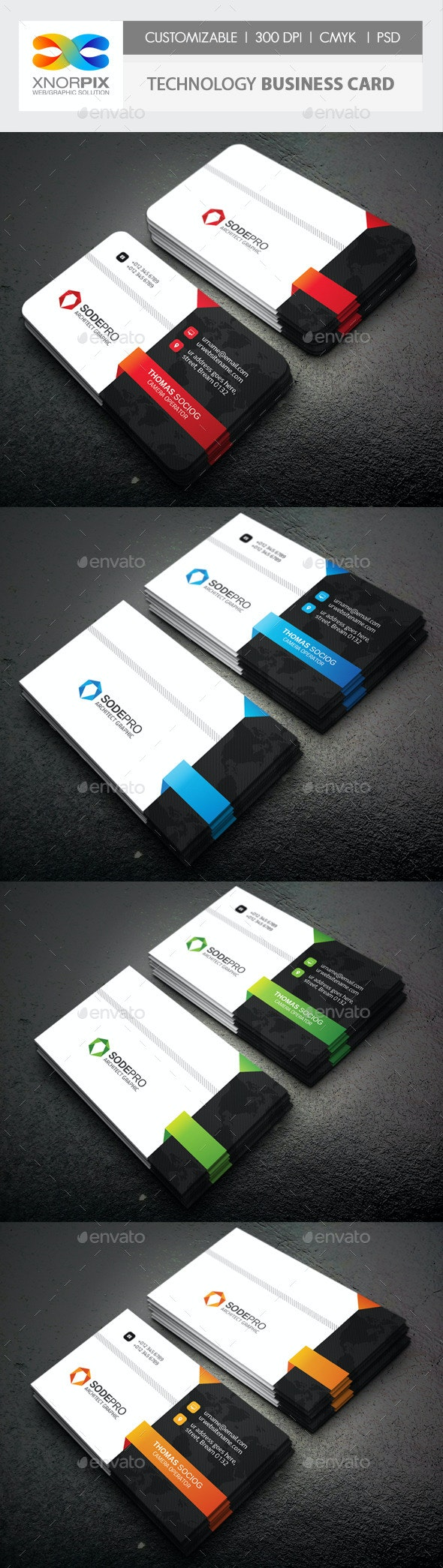 Technology Business Card - Corporate Business Cards