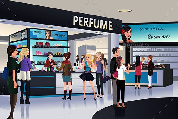 Shopping for Cosmetics  - Commercial / Shopping Conceptual
