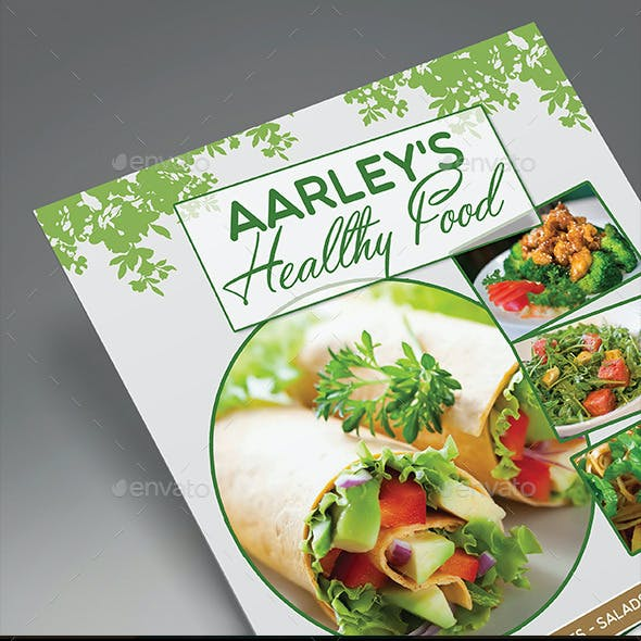 Healthy Food Menu Flyer