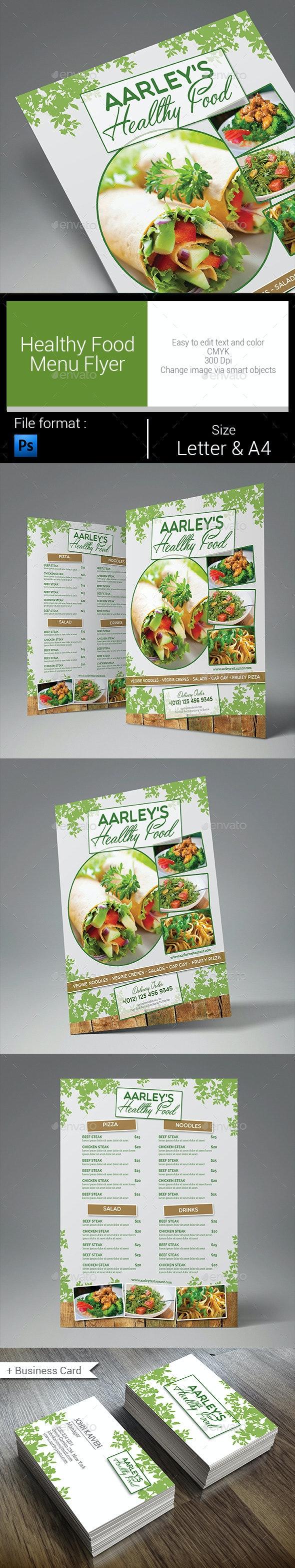Healthy Food Menu Flyer