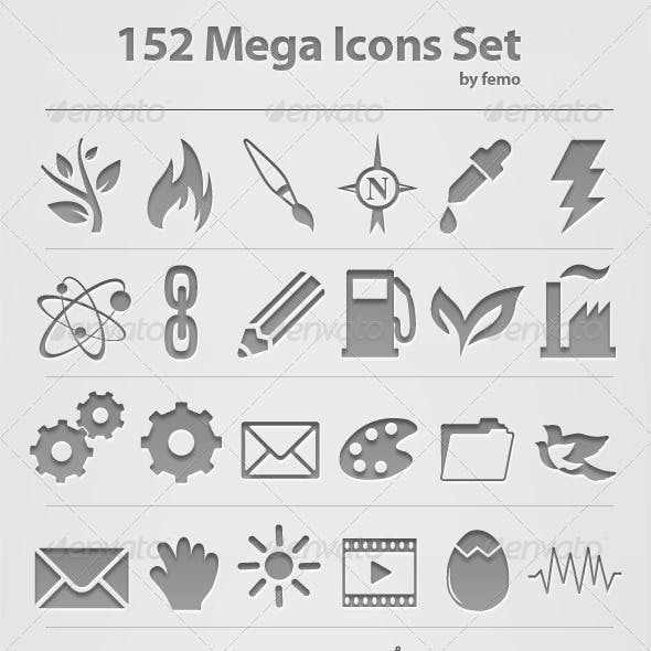 152 Mega Icons Set