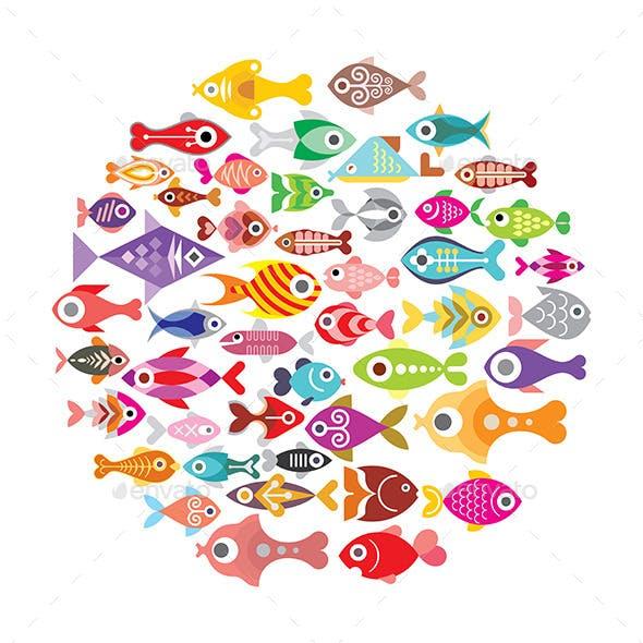Fish Round Frame