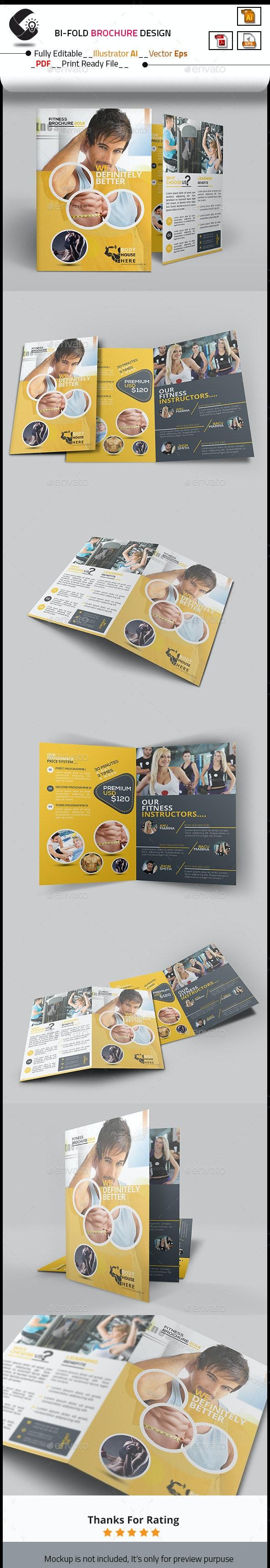 Fitness Bi-Fold Brochure - Corporate Brochures