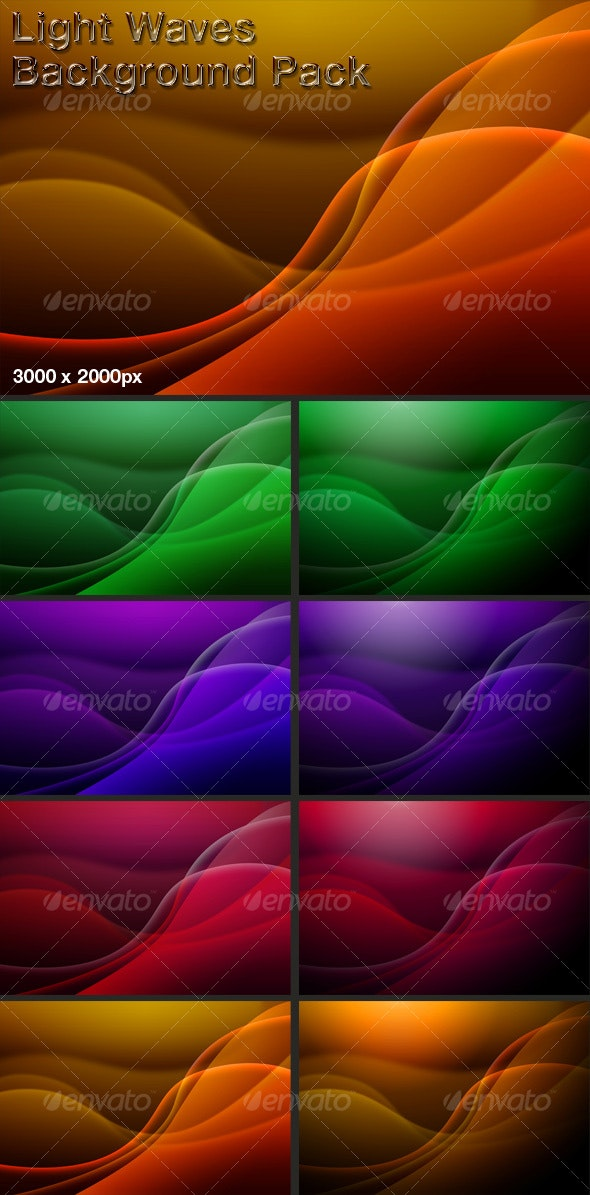 Light Waves Background Set - Abstract Backgrounds