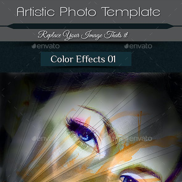 Artistic Photo Frame Template
