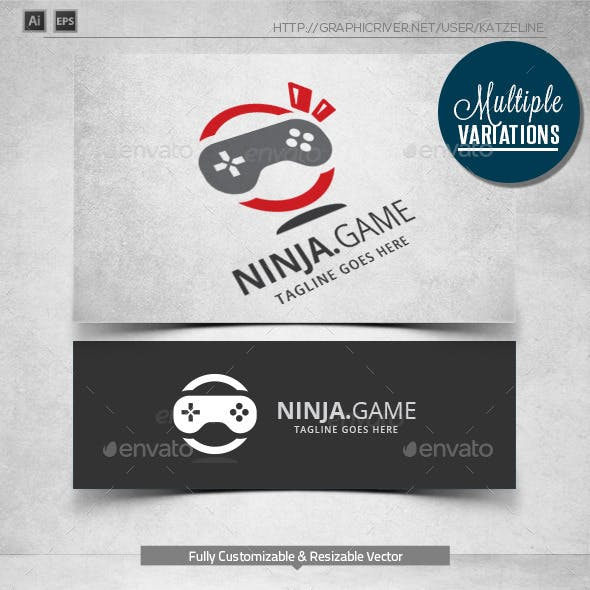 Ninja Game - Logo Template