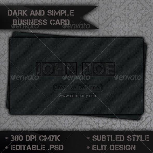 Dark Style Business Card