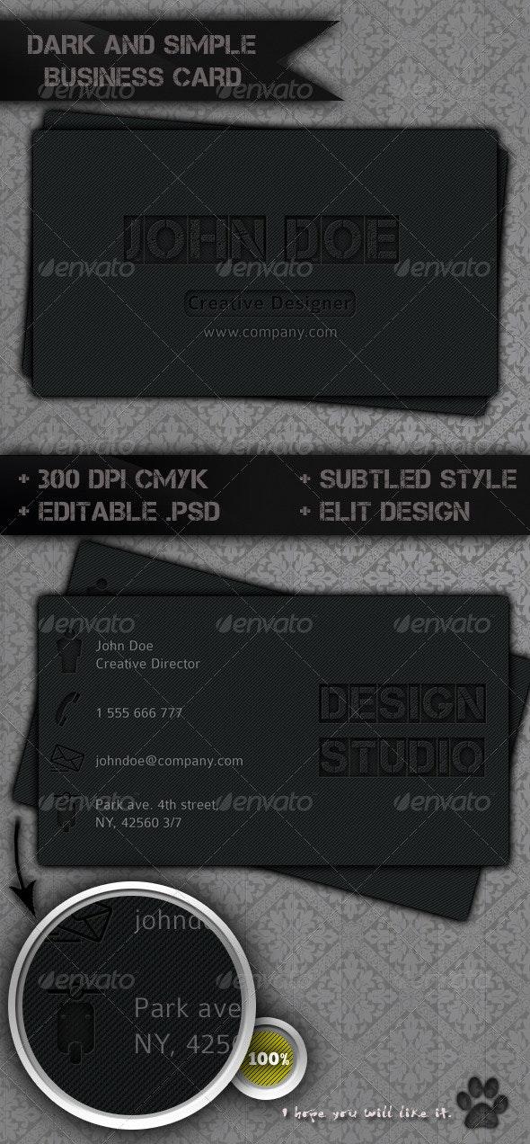 Dark Style Business Card - Creative Business Cards