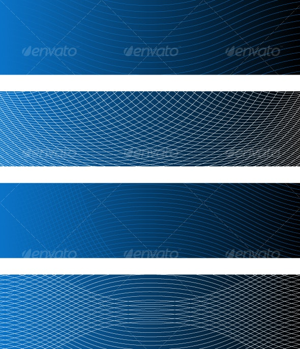 Sound Waves Banner I - Backgrounds Decorative