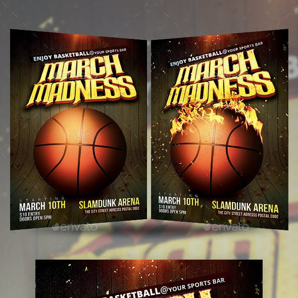 Basketball March Madness Flyer