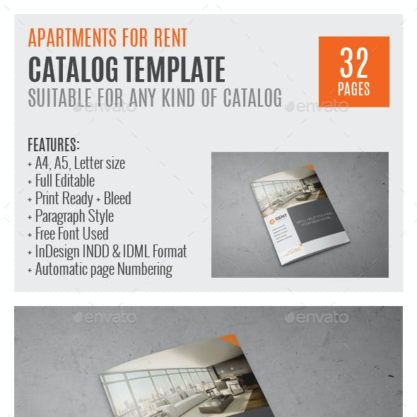 Real Estate Agency A4 InDesign Catalog 0045
