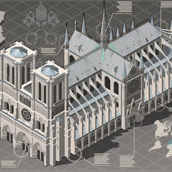 Isometric Infographic Notre Dame de Paris
