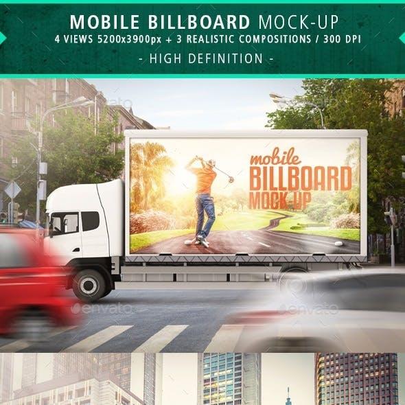 7 Mobile Billboard Mock-up