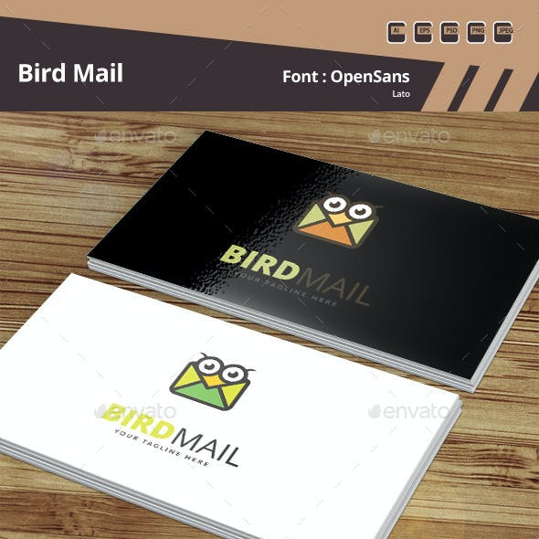 Bird Mail Logo Template