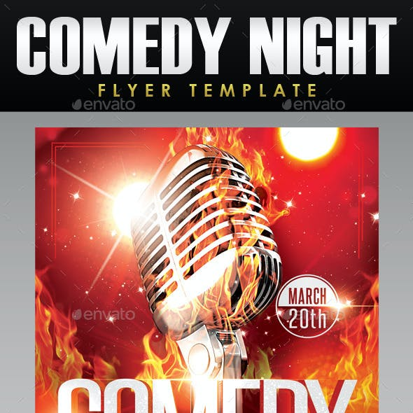 Comedy Night Flyer Template 3