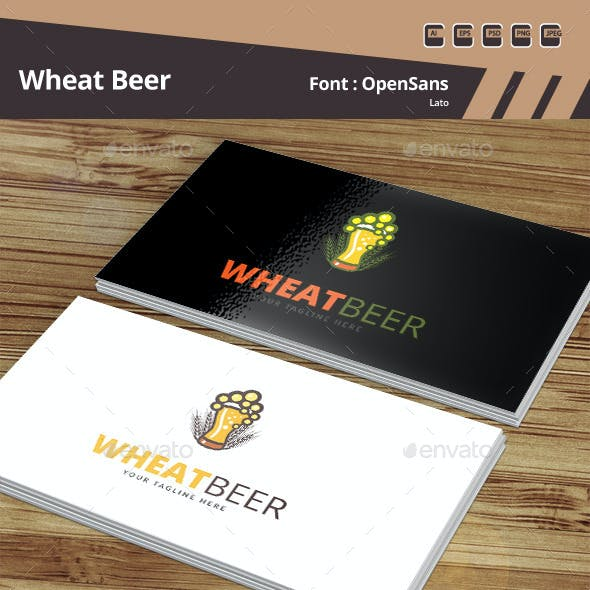 Wheat Beer Logo Template